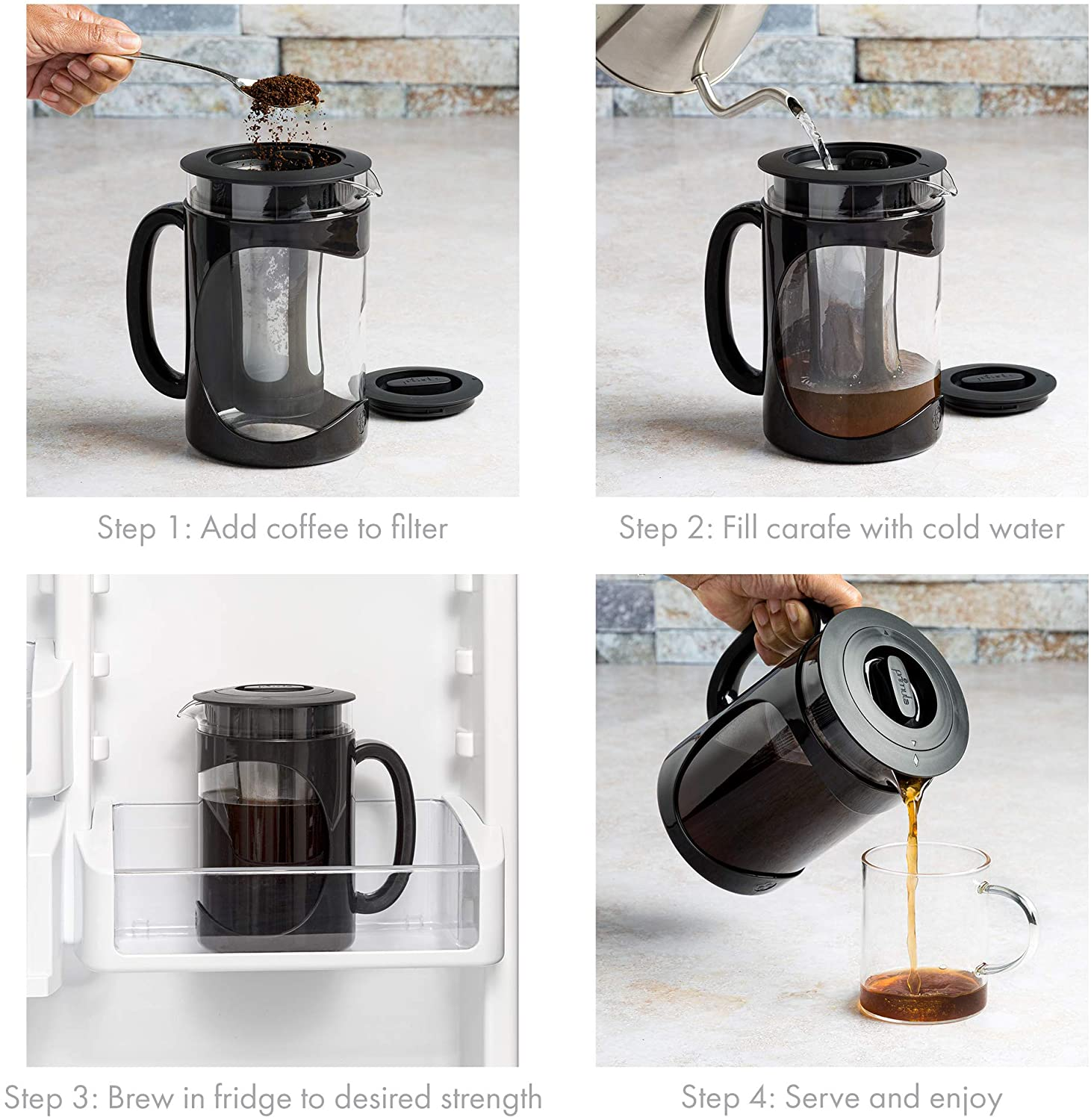Deluxe Cold Brew Iced Coffee Maker