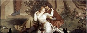 Tristán e Isolda. Pintura mural en el Dormitorio, August Spiess, 1881