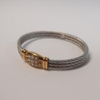 Fred of Paris 18K and Diamond Bracelet