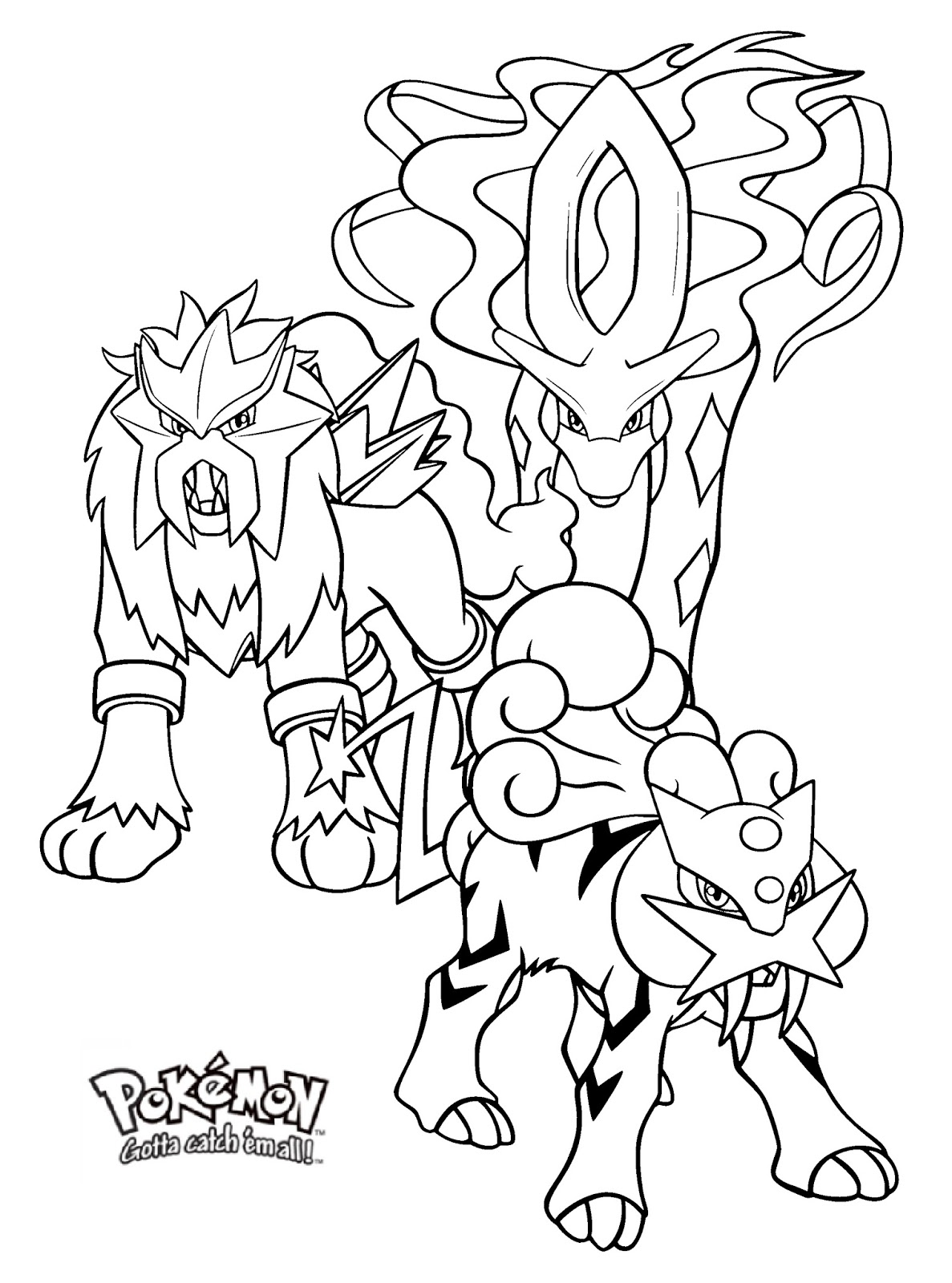 Best Free All Legendary Pokemon Coloring Pages Image