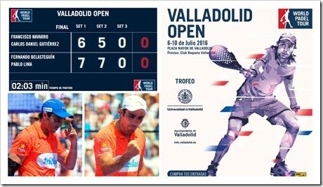 Belasteguín-Lima Campeones en WPT Valladolid Open 2016. Los número 1 pueden con todo.