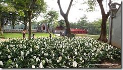 Hanoi. Lago Hoan kiem. Puente Huc y Templo de Ngoc Son