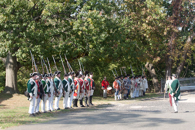 BRINGING  TO LIFE THE RUNNING BATTLES THAT OCCURRED IN BERGEN COUNTY DURING THE SPRING OF 1780.  Photos by TOM HART/  FREELANCE PHOTOGRAPHER.