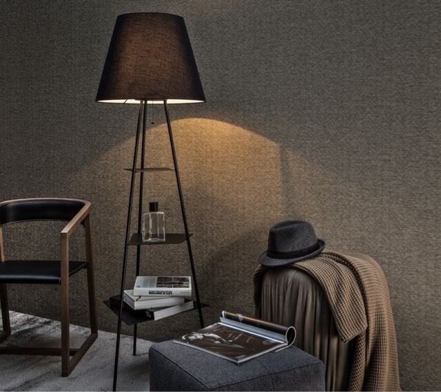 Tri.Be.Ca USB Floor Lamp by MOGG Furniture Company in Black