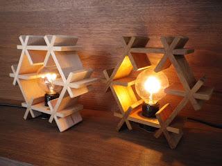 六角ランプ(S) kumiko hexagonal lamp