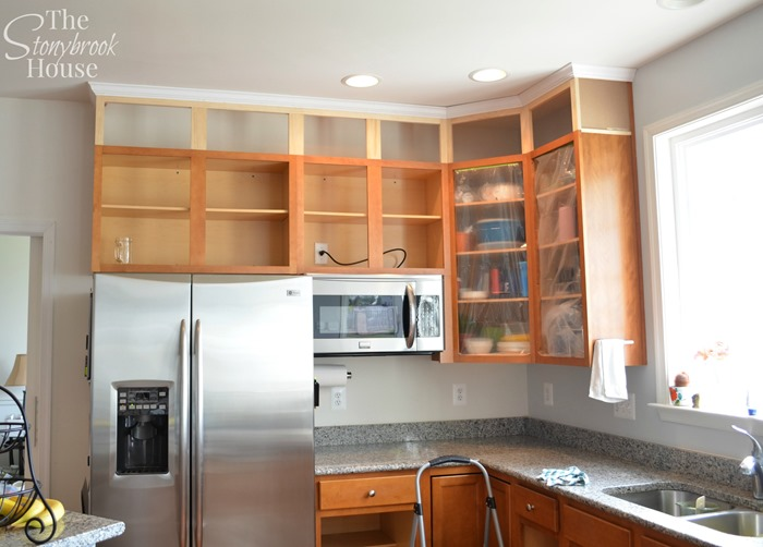 Extending Kitchen Cabinets To The Ceiling The Stonybrook House