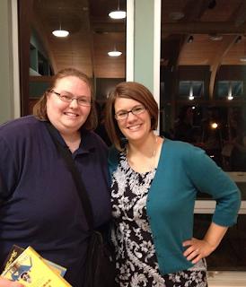 Jennifer with Rachel Held Evans on October 6, 2013