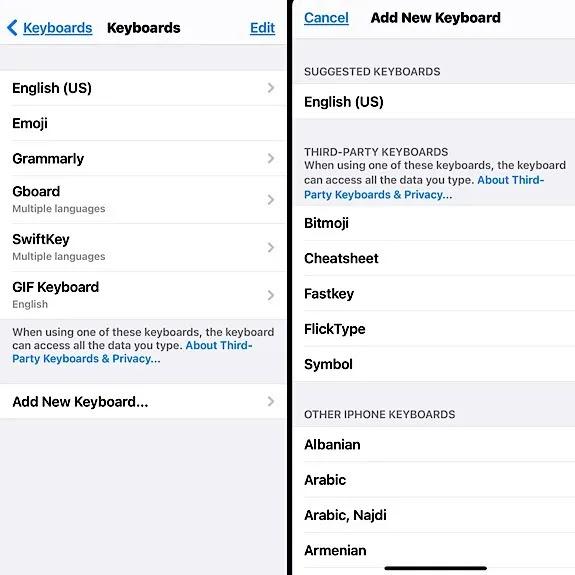 لوحة المفاتيح الخارجية لمستخدمي آيفون و آيباد