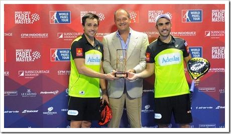 Fernando Belasteguín y Pablo Lima campeones en Mónaco WPT 2016