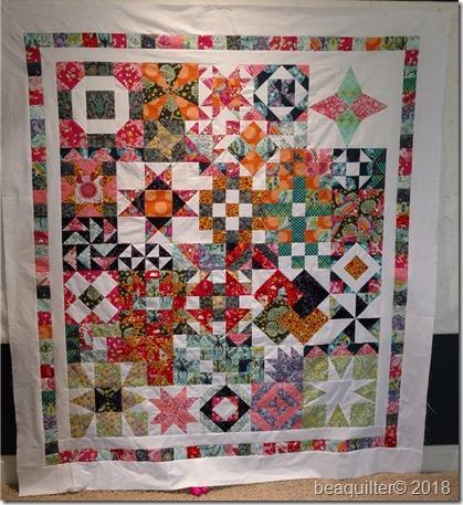 QUBE QAL Accuquilt sampler quilt