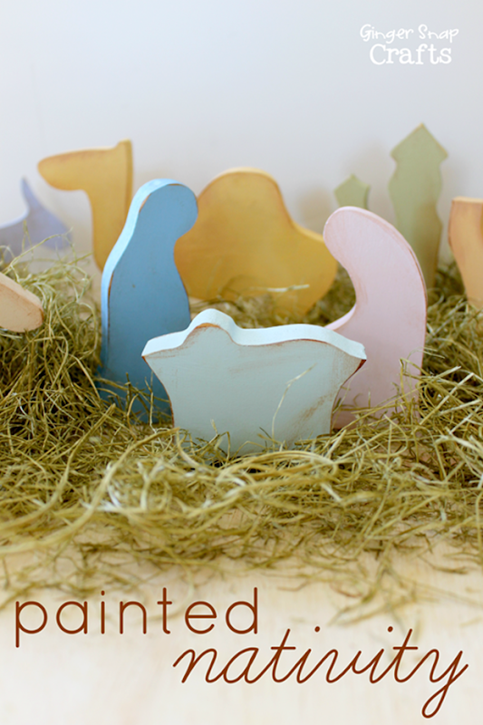 Painted Nativity with DecoArt #Christmas #gingersnapcrafts #ad _thumb[4]
