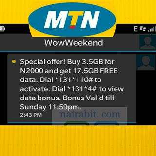 MTN WOW Weekend: Get 17.5GB for N2000