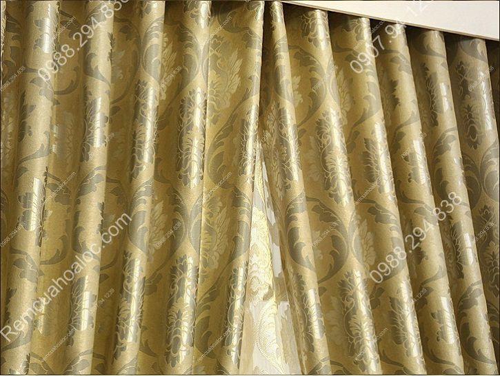 Rèm cửa sổ hà nội họa tiết mờ ánh kim 4