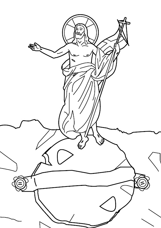 Jesus Christ resurrection coloring pages