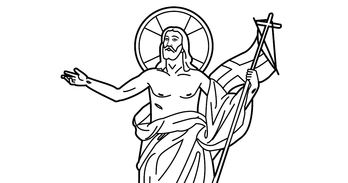 jesus resurrection coloring page jesus resurrection coloring pages coloring pages - Jesus Resurrection Coloring Pages