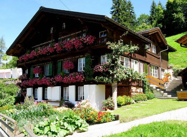 Деревня Венген в Швейцарии 8