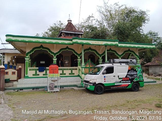 Bersih masjid Al Muttaqien, Bugangan, Trasan, Bandongan Magelang
