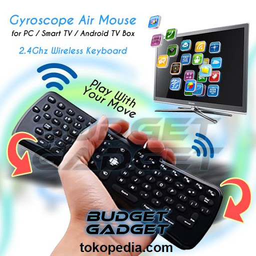 2.4Ghz Wireless Gyroscope Air Mouse Keyboard for P