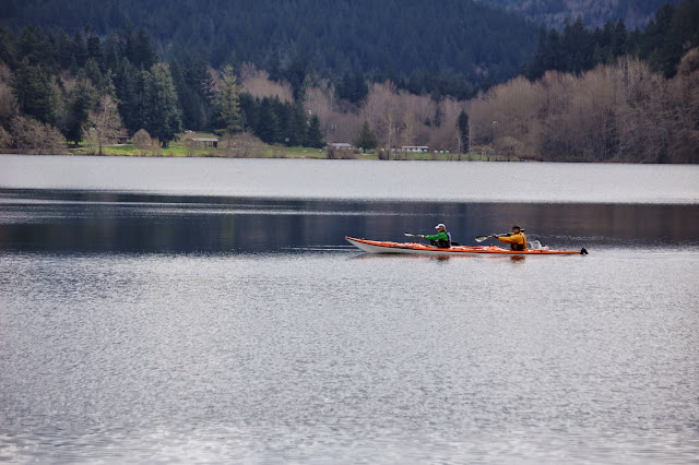 Kayakers on Lake Padden in early spring / Credit: Bellingham Whatcom County Tourism