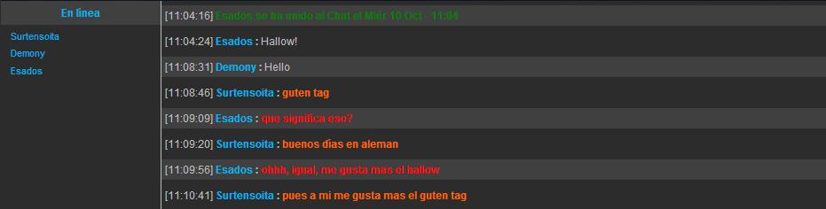 entradas al chat modo EPIC Xas
