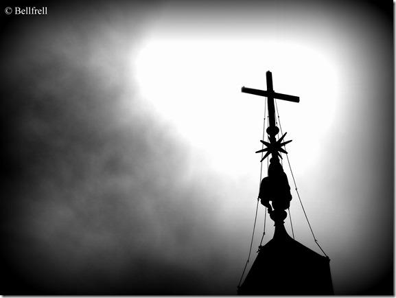 Schwarzweiß Gegenlicht Obelisk
