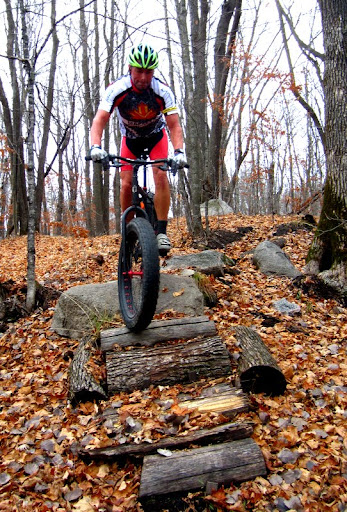 Rolling the rocks and logs with a fat bike
