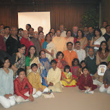 Devotees assembled with Swami Sarvadevananda