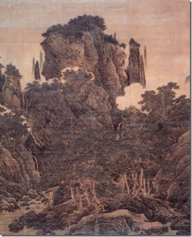 Li Tang, Wind in the Pines Among a Myriad of Valleys, 1124. N. Song dynasty. Ink and color on silk.