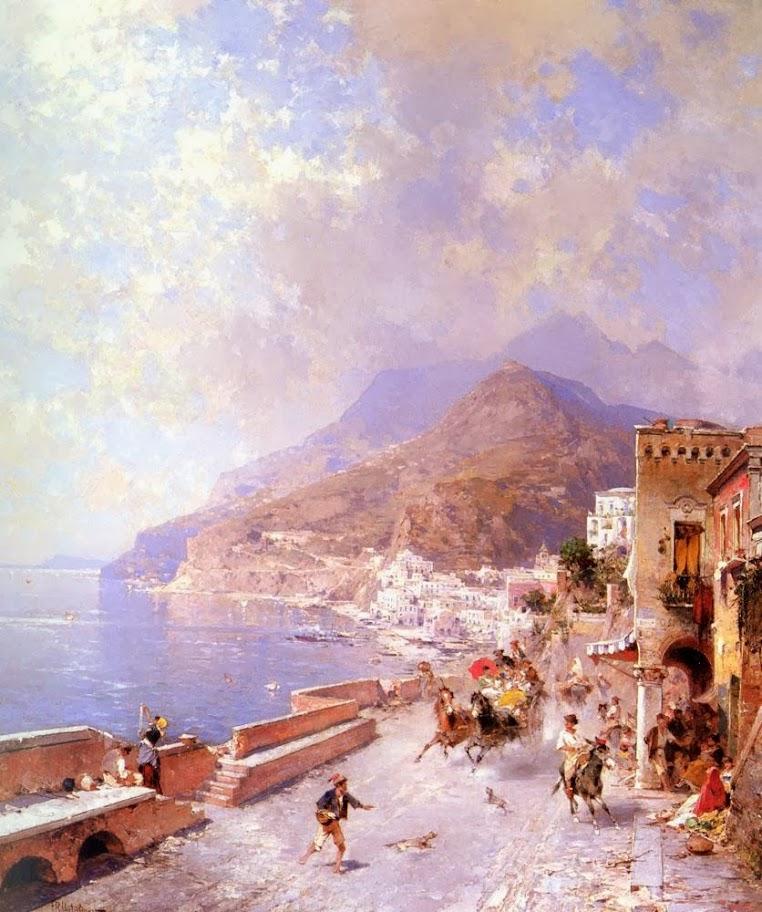 Franz Richard Unterberger - Amalfi
