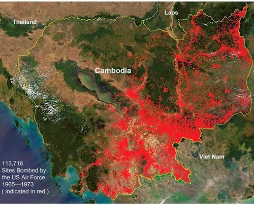 Ban do cua 113716 khu vuc ma My da tha bom xuong Cambodia