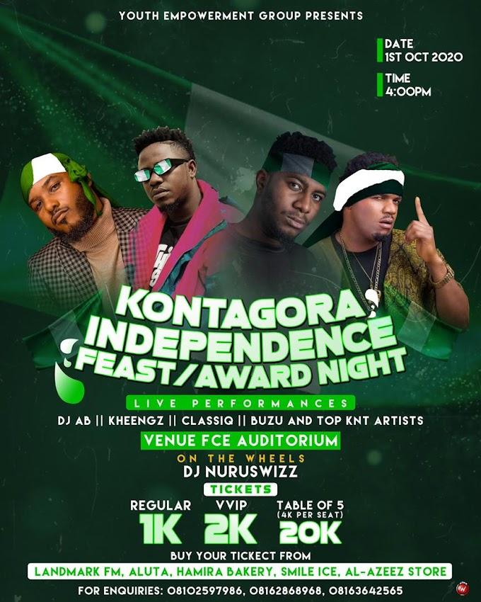 "Hit Makers ""Buzu, Kheengz, DJ AB & ClassiQ"" Sets to Perform at "" Kontagora/Independence Feast & Award Night"" On 1st October"