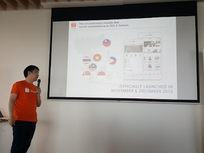 Feng charts Shopee's growth in Southeast Asia and Taiwan since its launch late last year.
