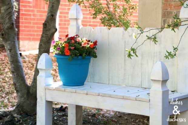 white-painted-garden-bench