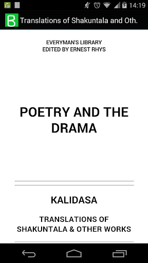 Poetry and the Drama