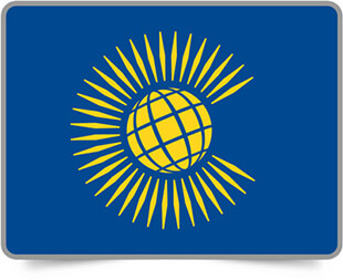 Commonwealth of Nations framed flag icons with box shadow