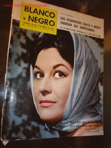 """Enma Penella en la portada de la revista """"Blanco y Negro"""" en los '60"""