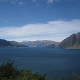 Lake Hawea on our way to a home-stay on a sheep station