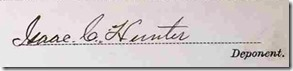 page 59 signature of Isaac Hunter