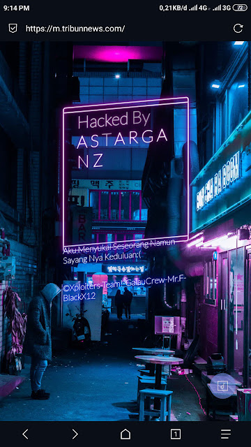 "Situs Milik Tribun. Diretas Hacker ""ASTARGANZ"""