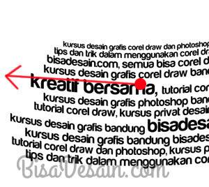 09-B. Membuat Tipografi Wajah dengan Corel Draw