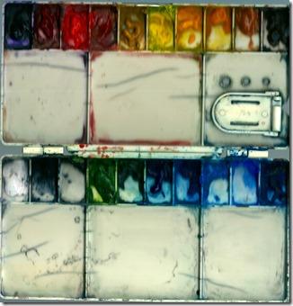 My trusty old folding palette
