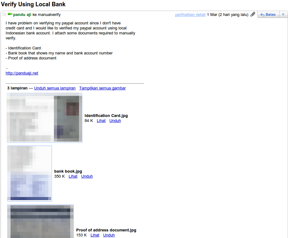 Verifikasi Paypal Menggunakan Bank Lokal 9