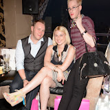WWW.ENTSIMAGES.COM -   Stuart Hosker,  Lady Charlotte Lynham and Lewis-duncan Weedon  at     The Bloggers Love Collection - fashion show The Penthouse, 1 Leicester Square, London August 22nd 2013                                                   Photo Mobis Photos/OIC 0203 174 1069