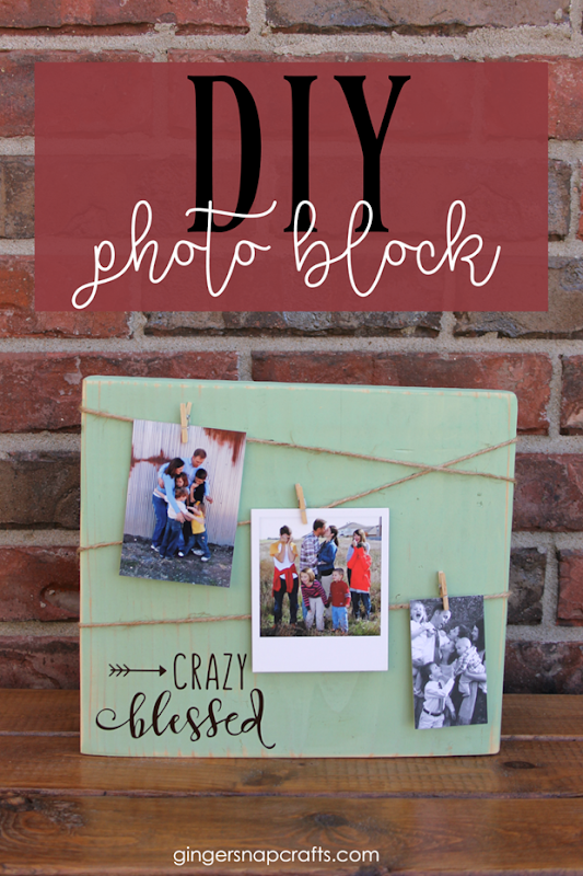 DIY Photo Block at GingerSnapCrafts.com #DIY #photos