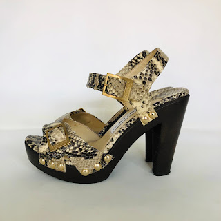 Jimmy Choo Python &Wood Sandals