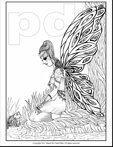 Superb Fantasy Fairy Coloring Pages Fantasy Page With Fairy Coloring  Pages For Adults And Fairy Coloring