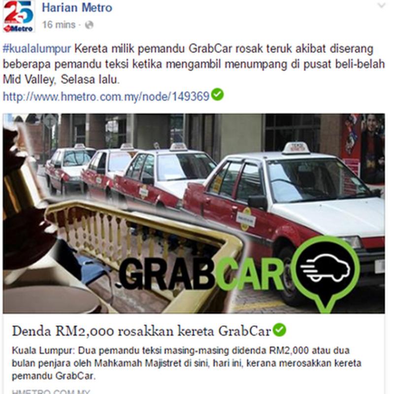 Teksi atau GrabCar ?