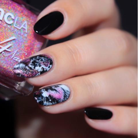 Holo Nailart Marble Nails NCLA Sunstruck