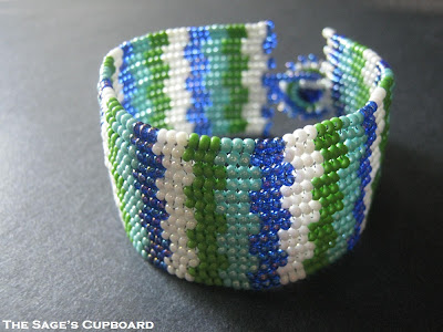 Blue and Green Stripe Cuff
