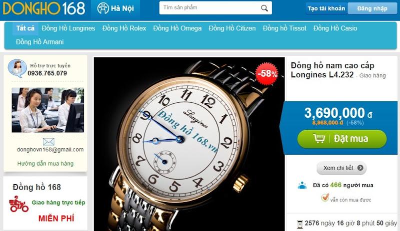 Website bán hàng thời trang trực tuyến DH168